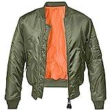 Brandit MA1 Jacke Oliv/Orange M