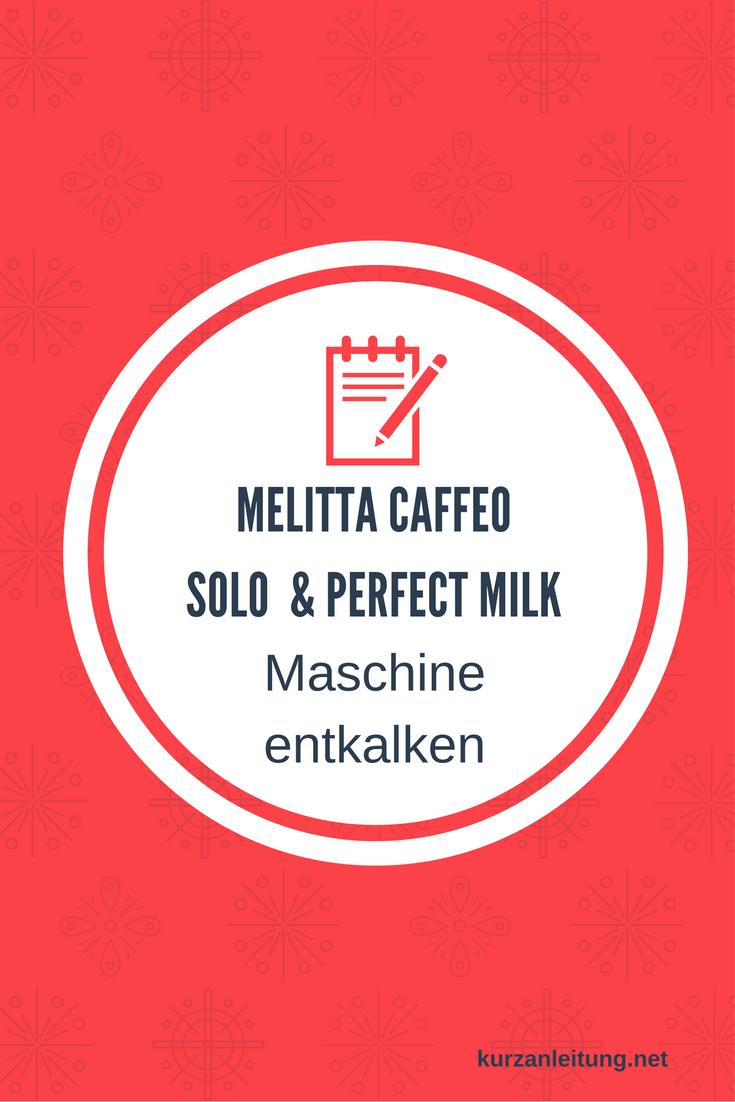 Melitta E 957-204 Kaffeevollautomat Caffeo Solo und Perfect Milk