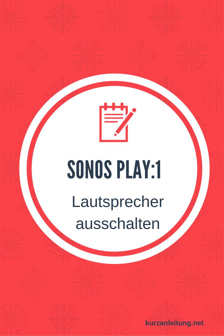 Sonos PLAY:1 I Kompakter Multiroom Smart Speaker für Wireless Music Streaming