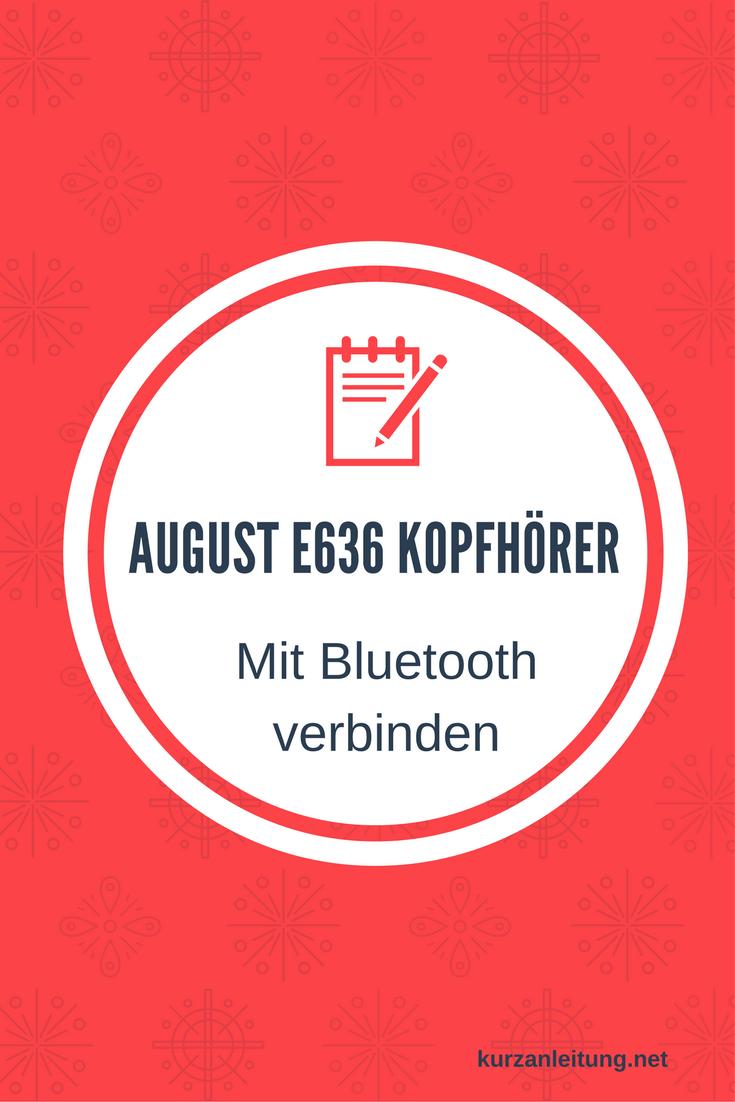 August EP636 - Bluetooth v4.0 NFC Kopfhörer
