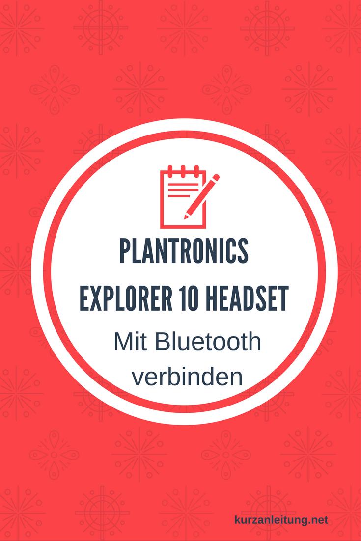 Plantronics Explorer 10 Headset