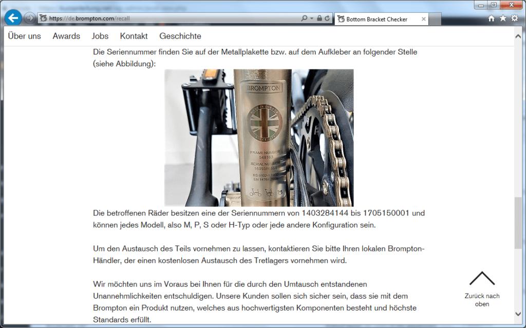 Rückruf Brompton Bicycle - kurzanleitung.net