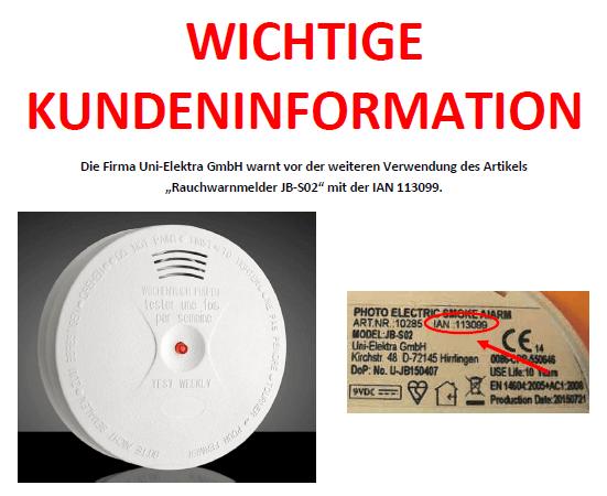Rückruf Lidl Rauchwarnmelder - kurzanleitung.net