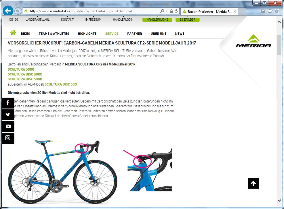 Rückruf Media Bikes Carbongabel - kurzanleitung.net