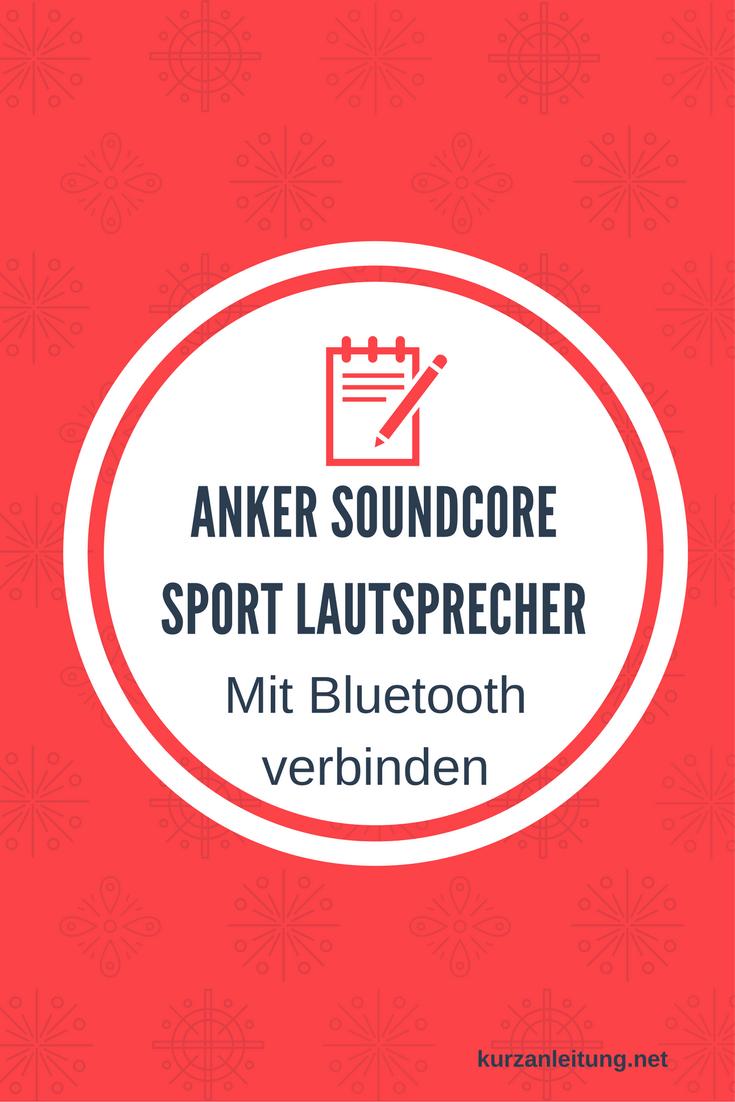 Anker SoundCore Sport Bluetooth Lautsprecher