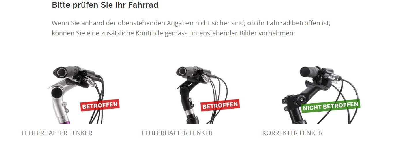 Rückruf Coop Bau Hobby Fahrrad kurzanleitung.net