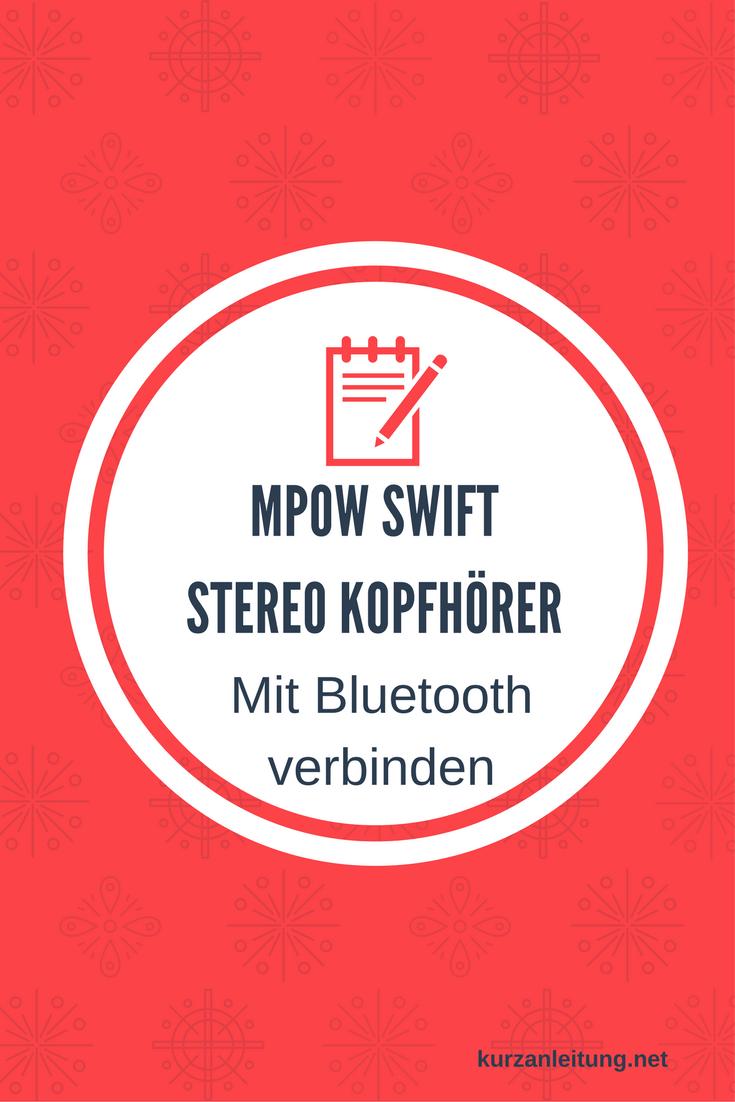 Mpow Swift MBH5 Kopfhörer Bluetooth