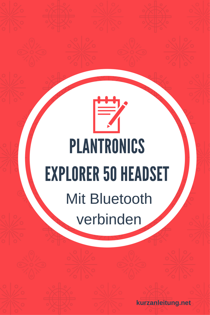 Plantronics Explorer 50 Headset