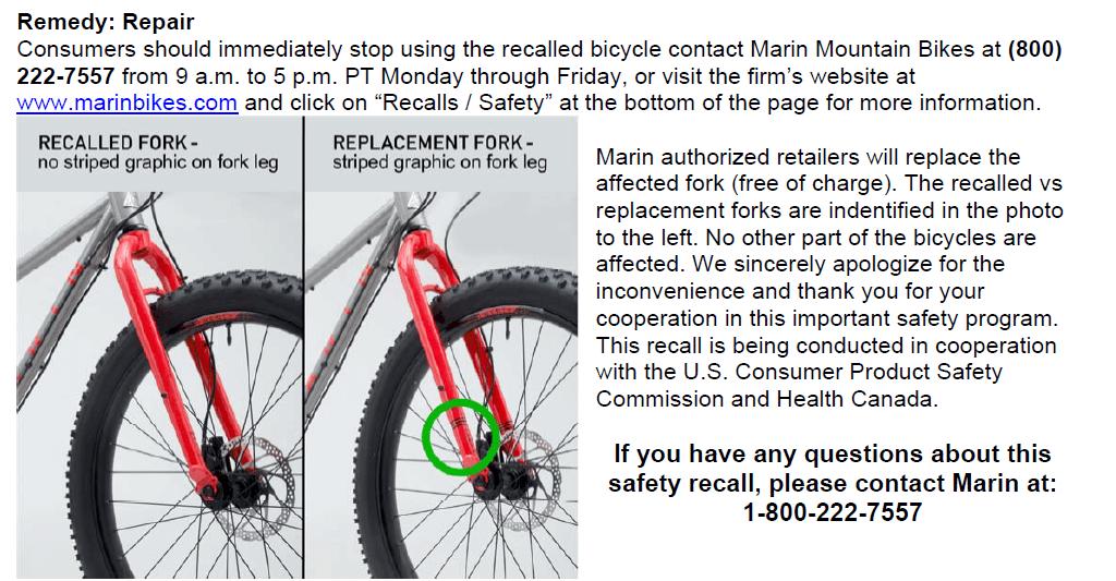Rückruf Marin Mountainbike kurzanleitung.net