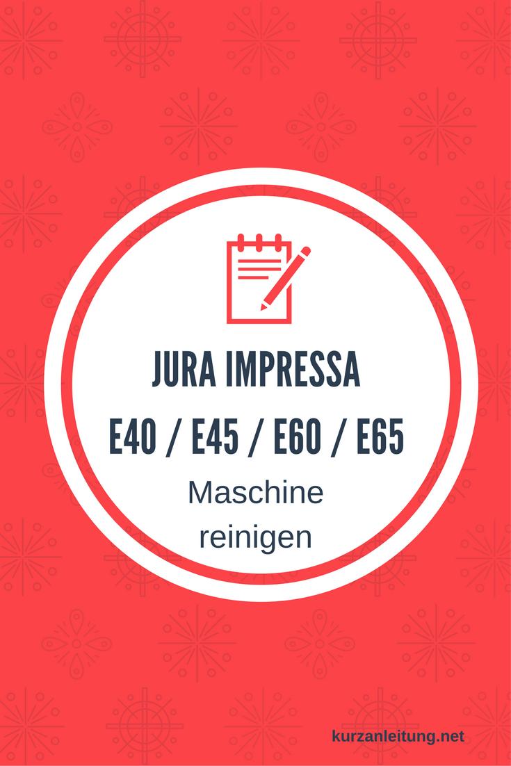 Jura Impressa E40 E45 E60 E65