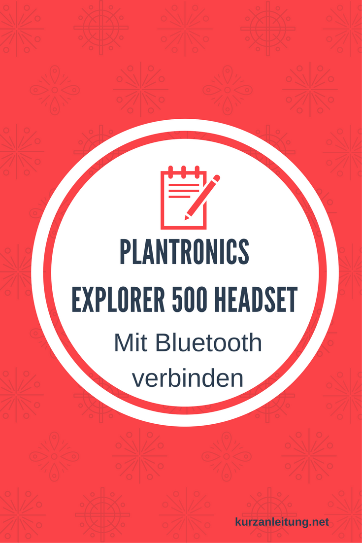 Plantronics Explorer 500 Headset