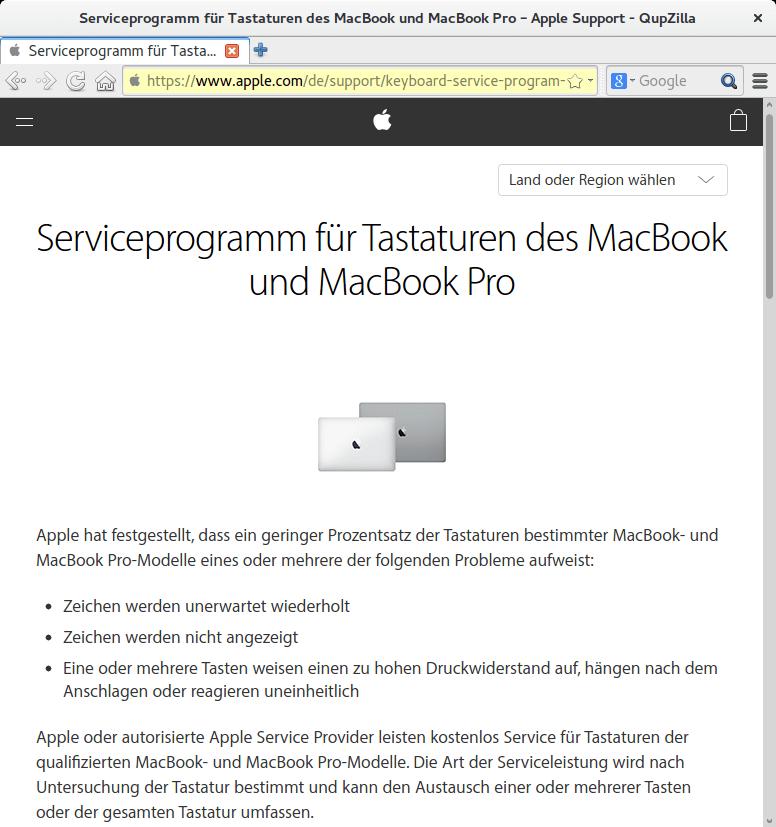 Rückruf - Apple Tastatur - kurzanleitung.net