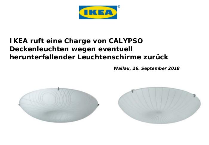 Rückruf - kurzanleitung.net: IKEA Deckenleuchte