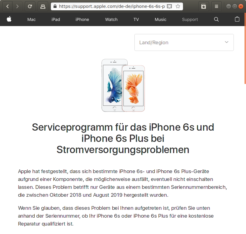 Rückruf - Apple iPhone 6s und Apple iPhone 6s Plus - kurzanleitung.net