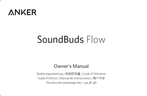 Anker SoundBuds Flow. Manual Screenshot. Juni 2019.