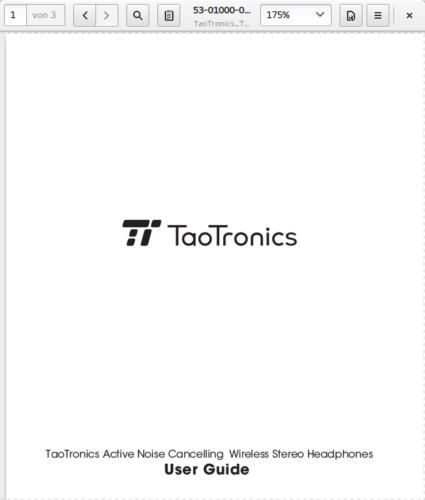 Screenshot Bedienungsanleitung, 17. Juni 2018, TaoTronics TT-BH22